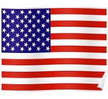 Red,White and Blue USA Flag Poster