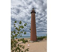 Flower girl by Little Sable Point Lighthouse Photographic Print