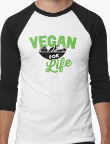 Vegan for life Men's Baseball ¾ T-Shirt
