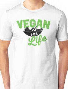 Vegan for life Unisex T-Shirt
