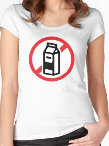 No milk - no dairy Women's Fitted Scoop T-Shirt