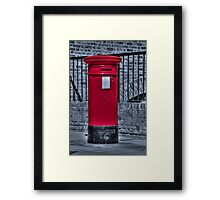 British Red Postbox Framed Print
