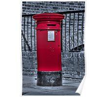 British Red Postbox Poster