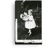 Little Girl & her Doll Canvas Print