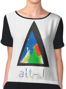 Alt-j This Is All Yours Triangle (with name) Chiffon Top