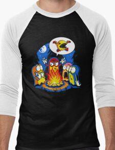 8-Bit Horror Men's Baseball ¾ T-Shirt