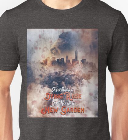 Derrick Rose Chicago to New York Garden Artwork Basketball Unisex T-Shirt
