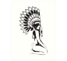 Cheif Native Hottie Art Print