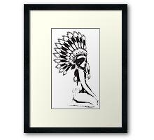 Cheif Native Hottie Framed Print