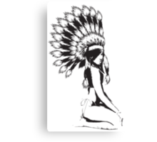 Cheif Native Hottie Canvas Print