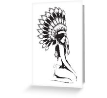 Cheif Native Hottie Greeting Card