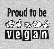 Proud to be vegan Kids Clothes