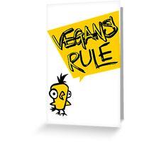 Vegans rule Greeting Card