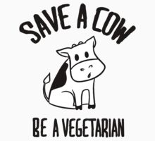 Save a cow, be a vegetarian Kids Tee