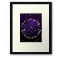 Look At The Stars And Wish | Night Court Framed Print