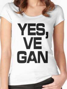 Yes, vegan! Women's Fitted Scoop T-Shirt