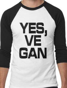 Yes, vegan! Men's Baseball ¾ T-Shirt