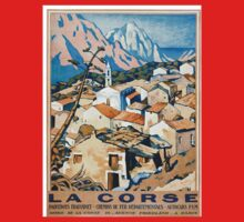 La Corse, Travel Poster French railways One Piece - Short Sleeve