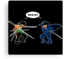 Zoro et Zorro : La rencontre ! Canvas Print