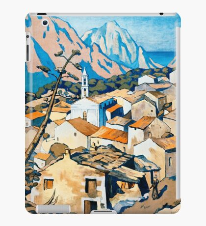 La Corse, Travel Poster French railways iPad Case/Skin