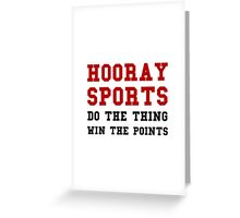 Hooray Sports Win Points Greeting Card