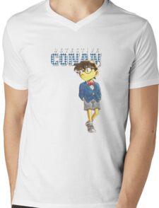 Detective Conan Cartoon Mens V-Neck T-Shirt