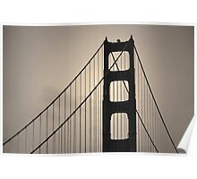 Golden Gate Bridge I Toned Poster