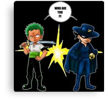 Zoro et Zorro ! Canvas Print