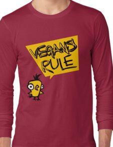 Vegans rule Long Sleeve T-Shirt