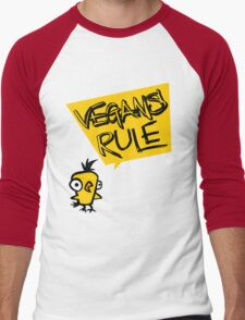 Vegans rule Men's Baseball ¾ T-Shirt