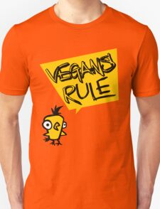 Vegans rule Unisex T-Shirt