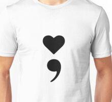 Heart Semicolon Unisex T-Shirt