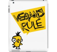Vegans rule iPad Case/Skin