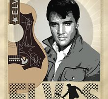 """Hound Dog"" Elvis Presley by Lyndsey Fletcher"
