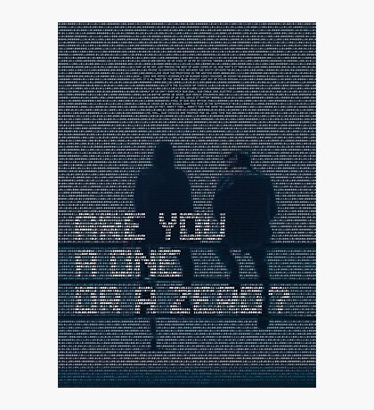 mr.robot_eps1.1_ones-and-zer0es.mpeg Photographic Print