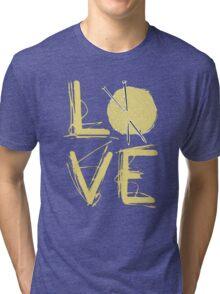 I Love Knitting - I Love Knitting Shirt Tri-blend T-Shirt