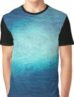 Blue Ocean White Sand Reefs Pattern Tropical Maldives Graphic T-Shirt