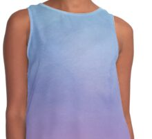 Blue Fade To Purple - Abstract Watercolor Contrast Tank