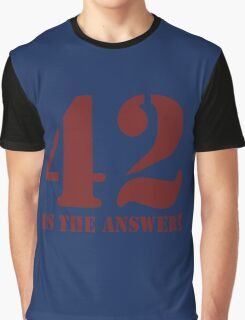 42 is the answer Graphic T-Shirt