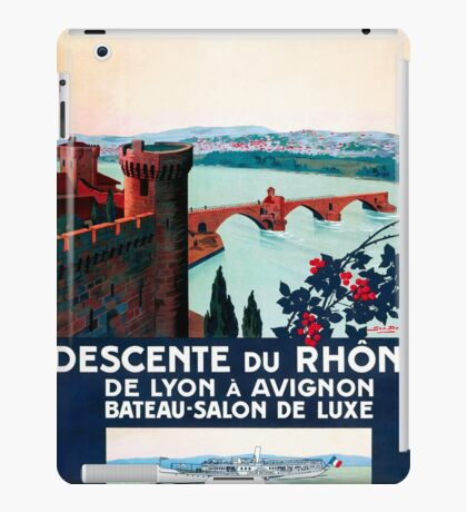 Descente du Rhône, French Travel Poster iPad Case/Skin