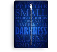Gandalf Quote Canvas Print