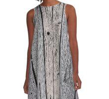 Wood Pattern 3 A-Line Dress