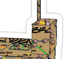 subway map new York city graffiti hotdog stand hotdog cart, Famous -  NYC hotdogs Sticker