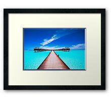 Ocean Bridge Framed Print