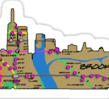 subway map new York city graffiti Manhattan skyline  Sticker