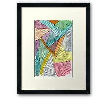 Colorful Watercolor and Ink Abstract Pattern  Framed Print
