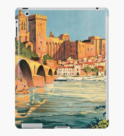 Avignon, French Travel Poster iPad Case/Skin