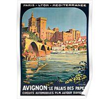 Avignon, French Travel Poster Poster