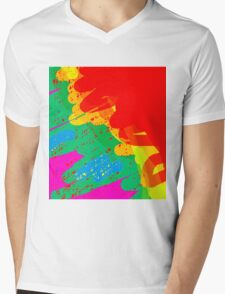 Colorful design by Moma Mens V-Neck T-Shirt