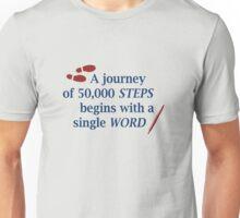 50,000 words, 50,000 steps Unisex T-Shirt